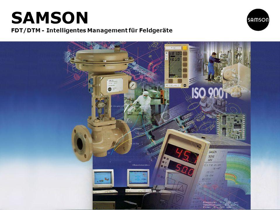 SAMSON FDT/DTM - Intelligentes Management für Feldgeräte