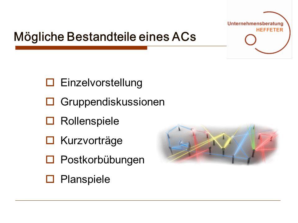 Mögliche Bestandteile eines ACs