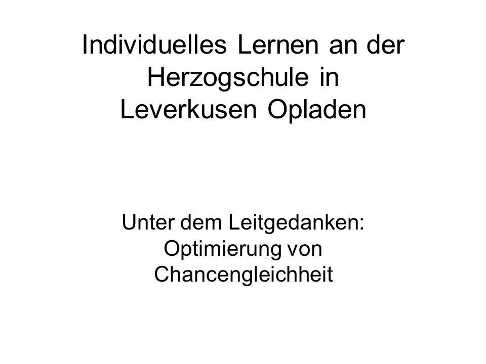 Individuelles Lernen an der Herzogschule in Leverkusen Opladen