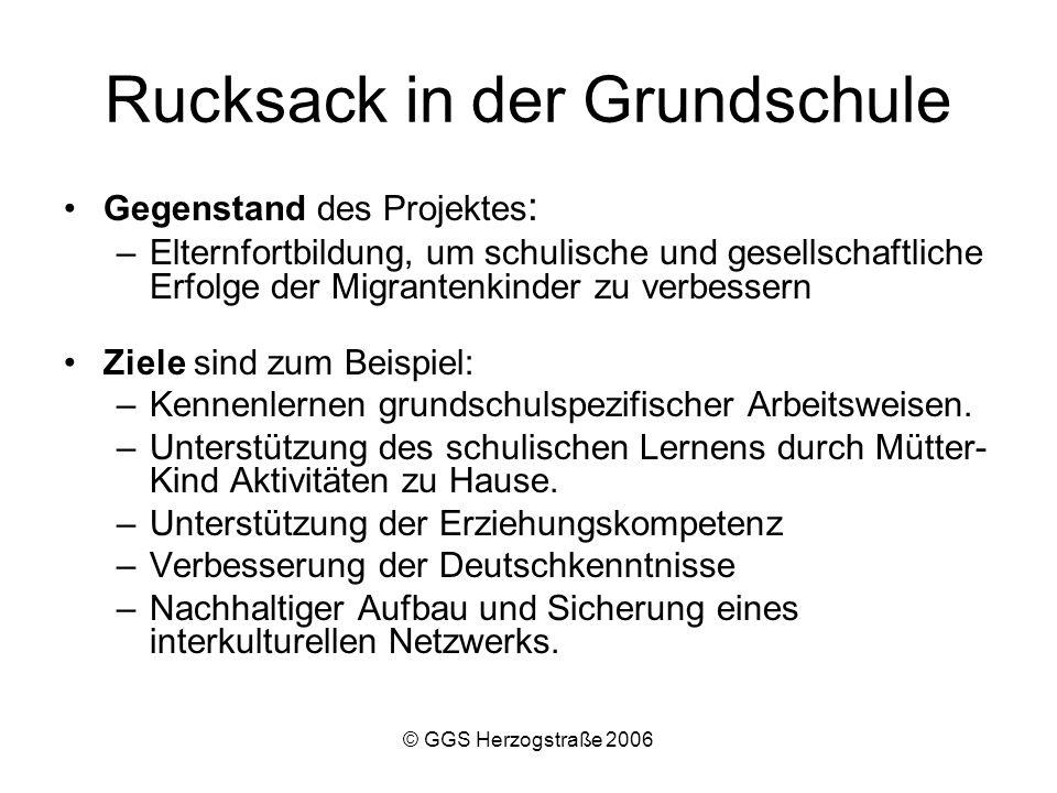 Rucksack in der Grundschule