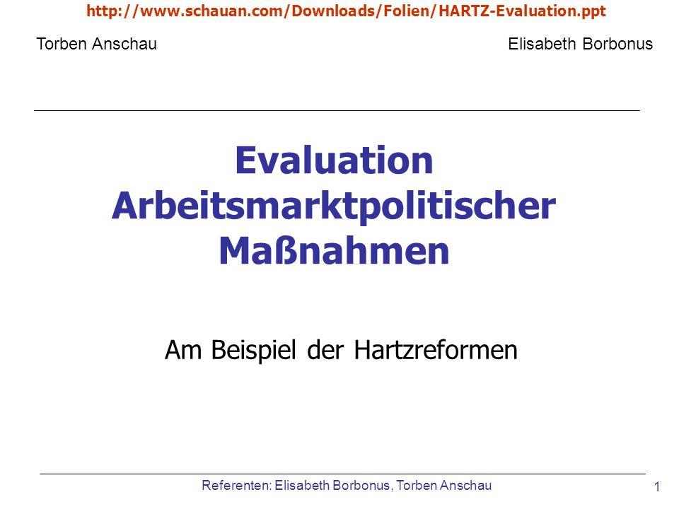 Evaluation Arbeitsmarktpolitischer Maßnahmen