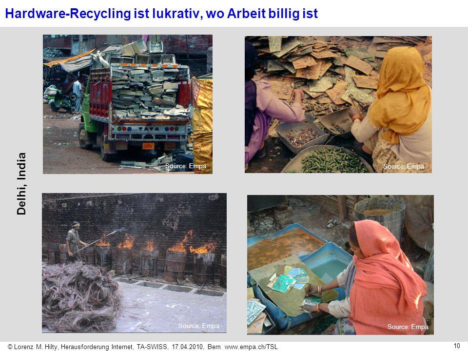 Hardware-Recycling ist lukrativ, wo Arbeit billig ist