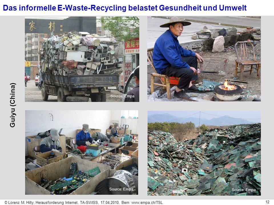 Das informelle E-Waste-Recycling belastet Gesundheit und Umwelt