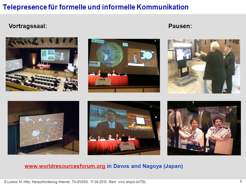 Telepresence für formelle und informelle Kommunikation