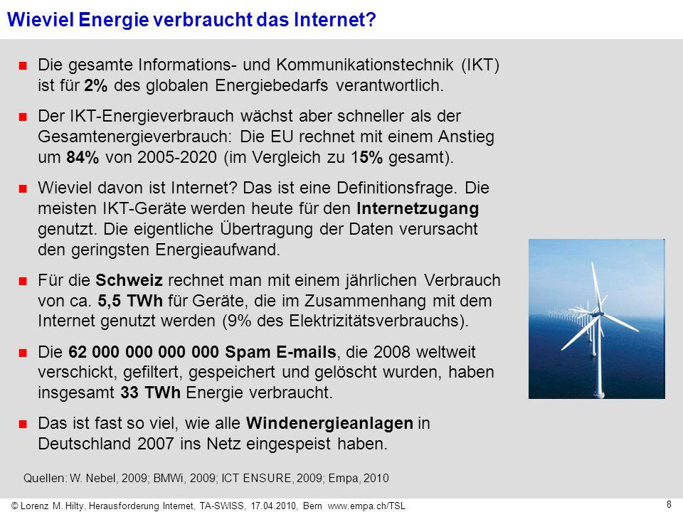 Wieviel Energie verbraucht das Internet