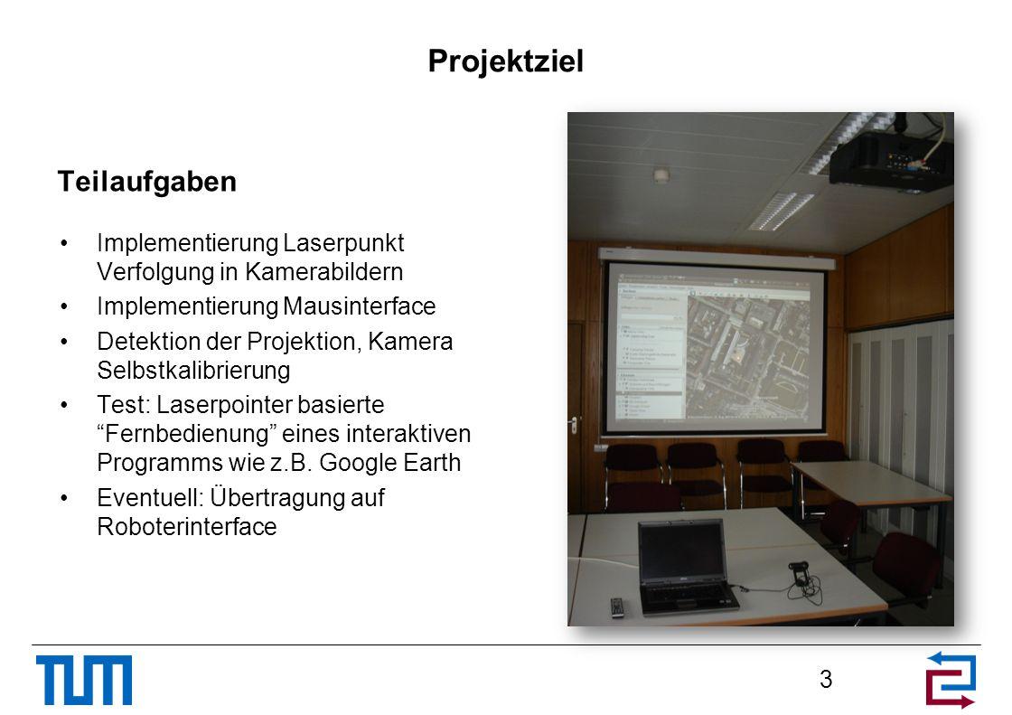 Projektziel Teilaufgaben