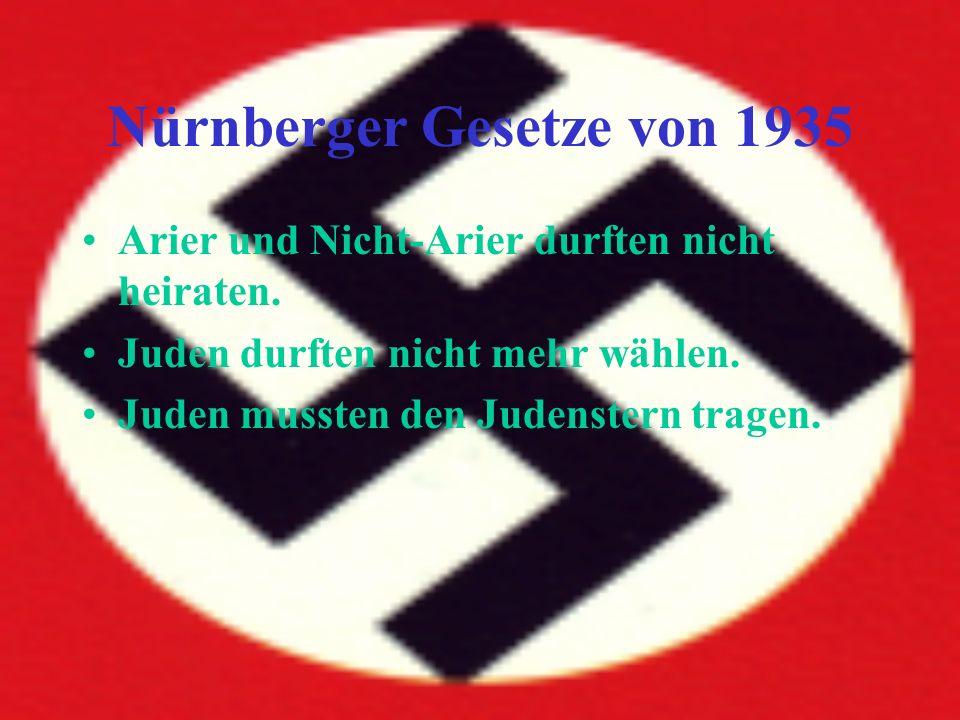 Nürnberger Gesetze von 1935