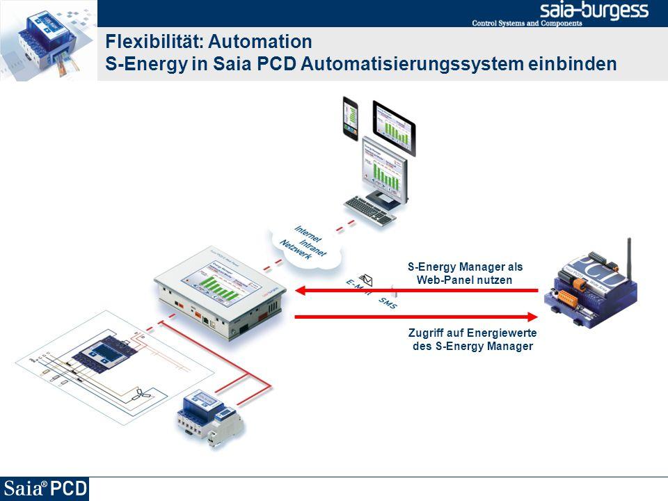 Flexibilität: Automation S-Energy in Saia PCD Automatisierungssystem einbinden