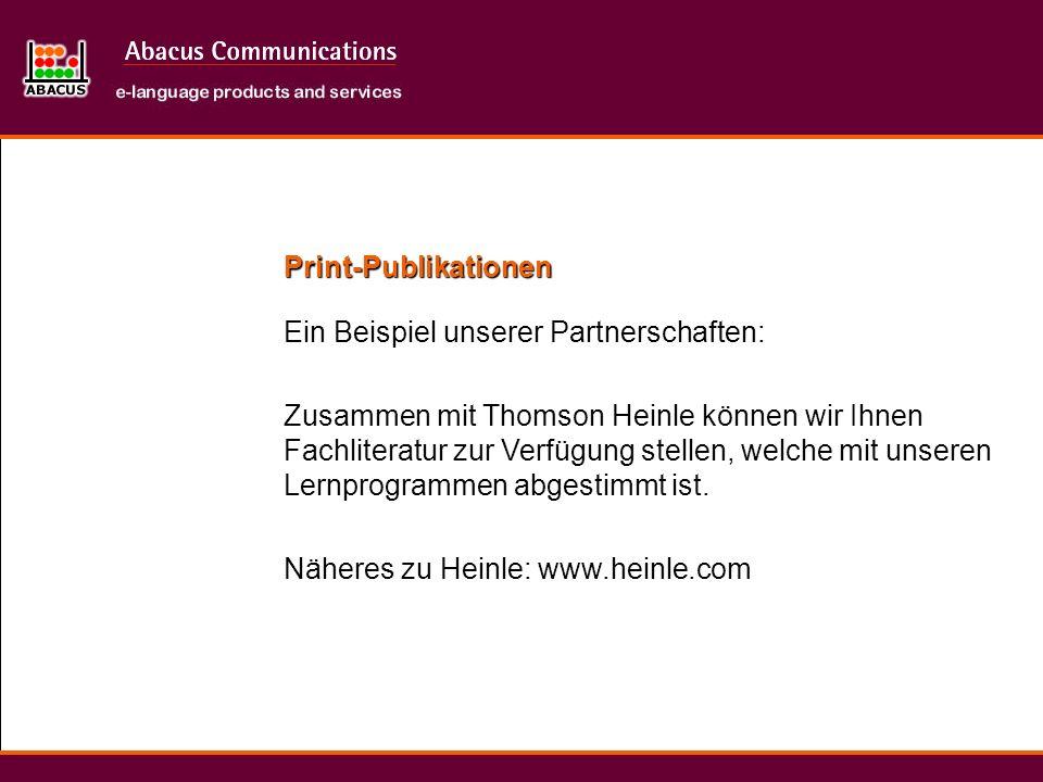 Print-Publikationen Ein Beispiel unserer Partnerschaften: