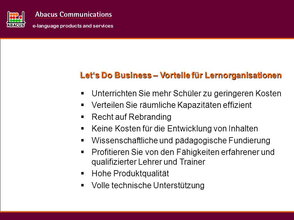 Let's Do Business – Vorteile für Lernorganisationen
