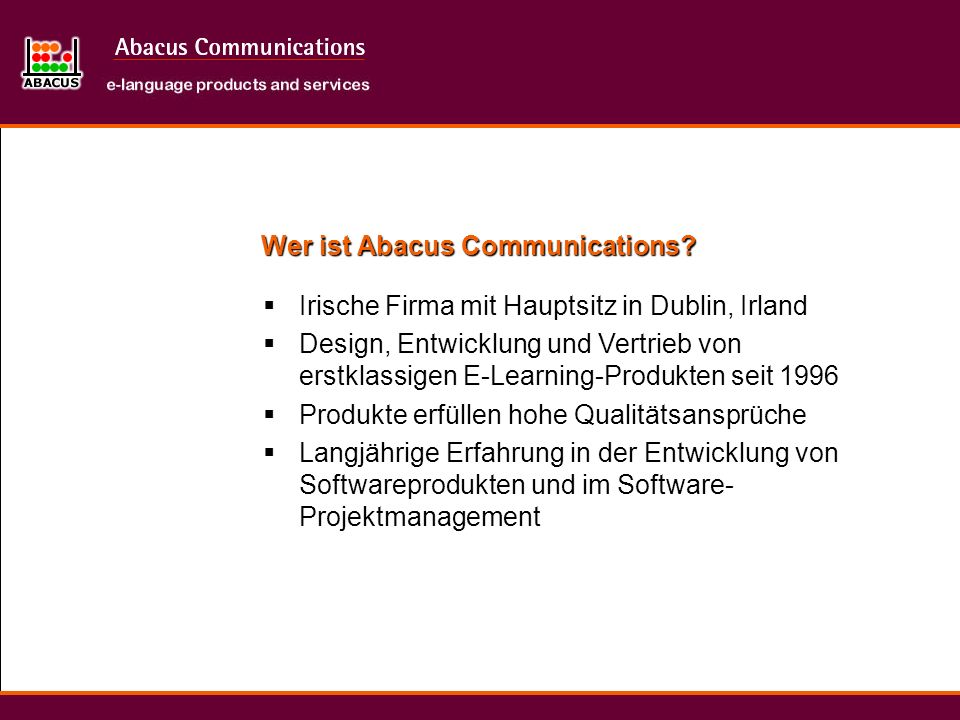 Wer ist Abacus Communications