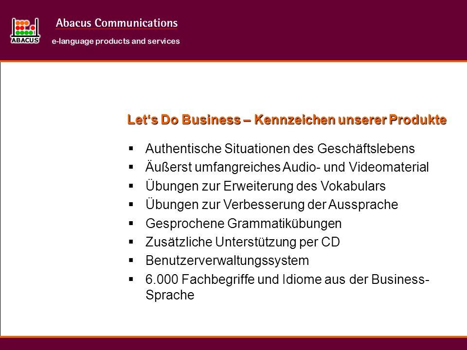 Let's Do Business – Kennzeichen unserer Produkte
