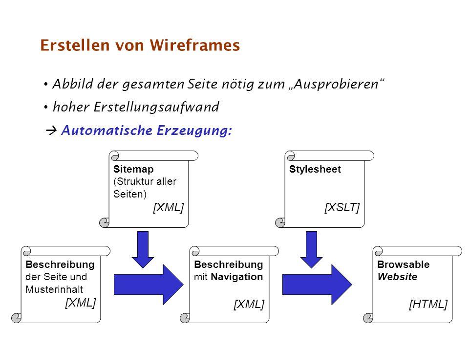 Erstellen von Wireframes