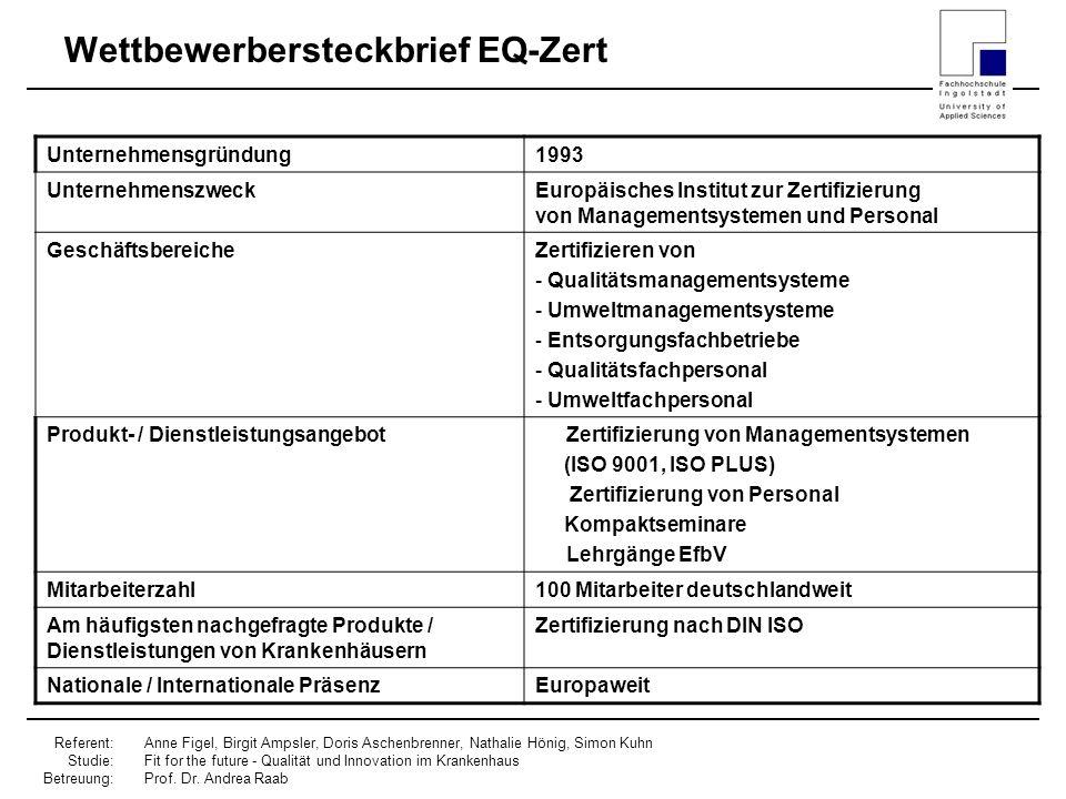 Wettbewerbersteckbrief EQ-Zert