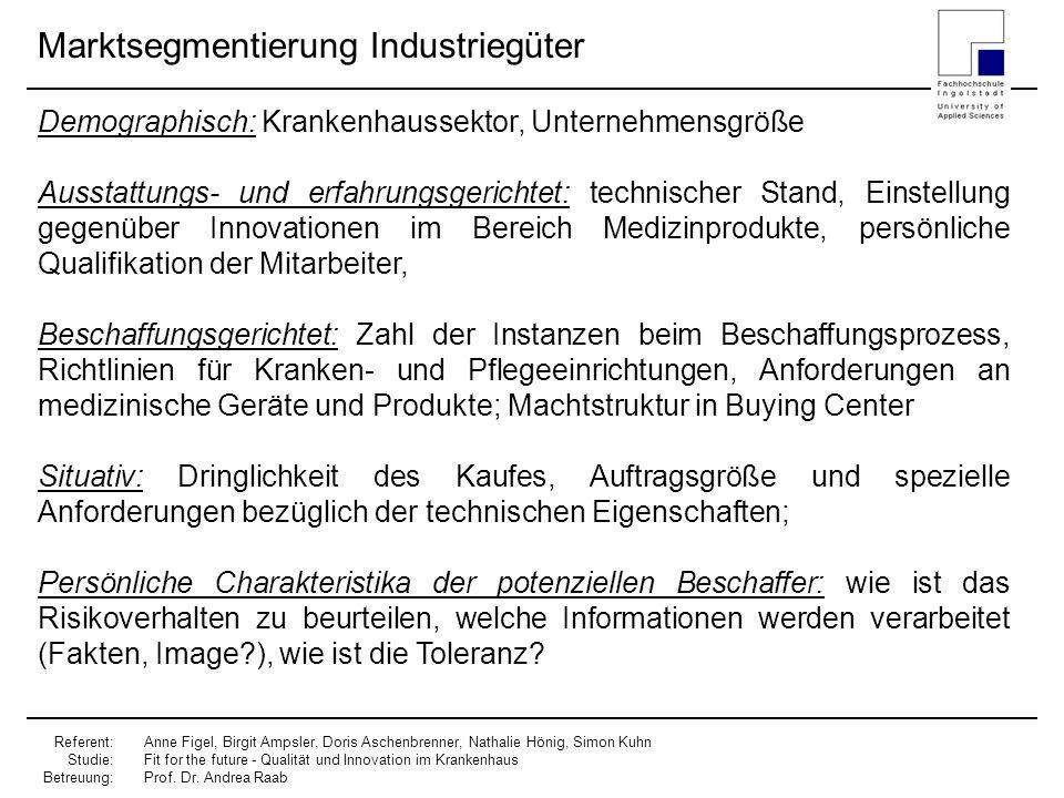 Marktsegmentierung Industriegüter