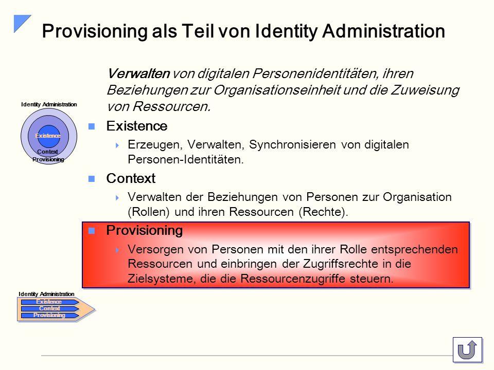 Provisioning als Teil von Identity Administration