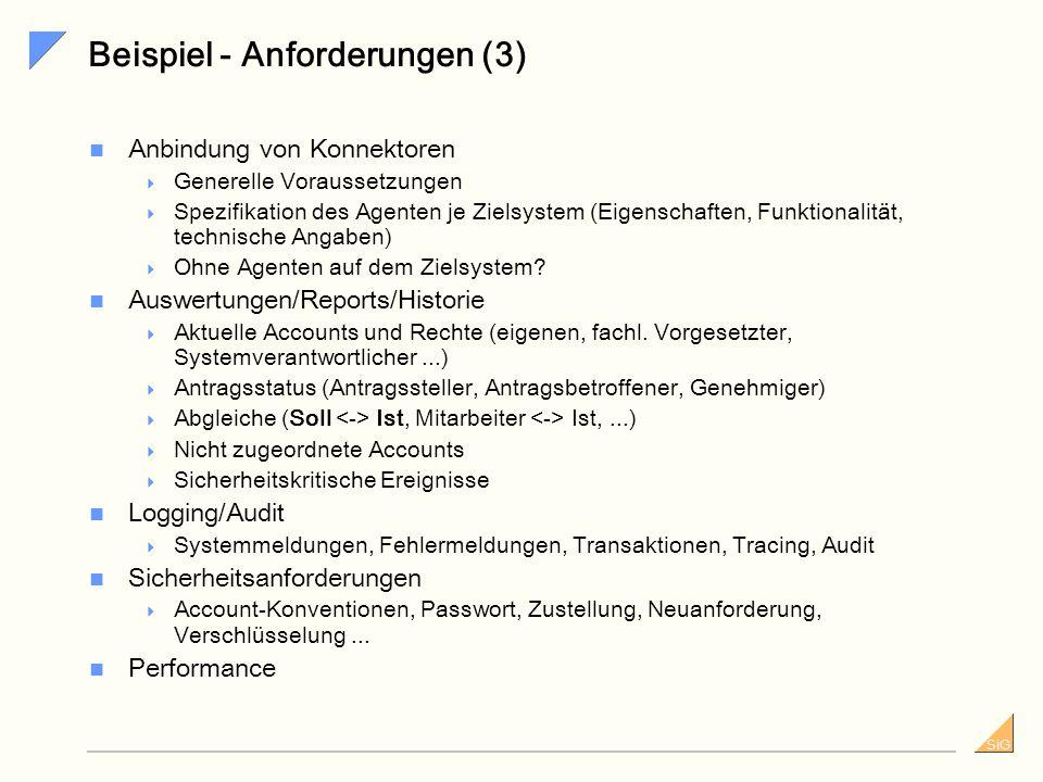 Beispiel - Anforderungen (3)