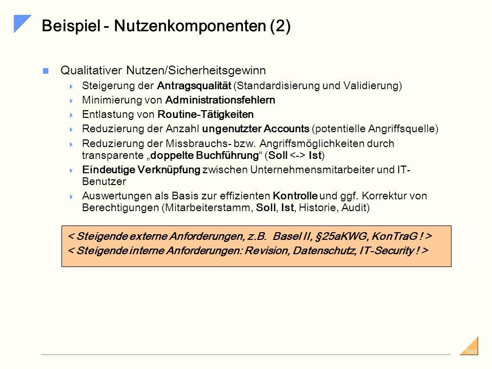 Beispiel - Nutzenkomponenten (2)