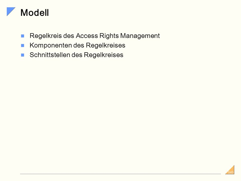 Modell Regelkreis des Access Rights Management