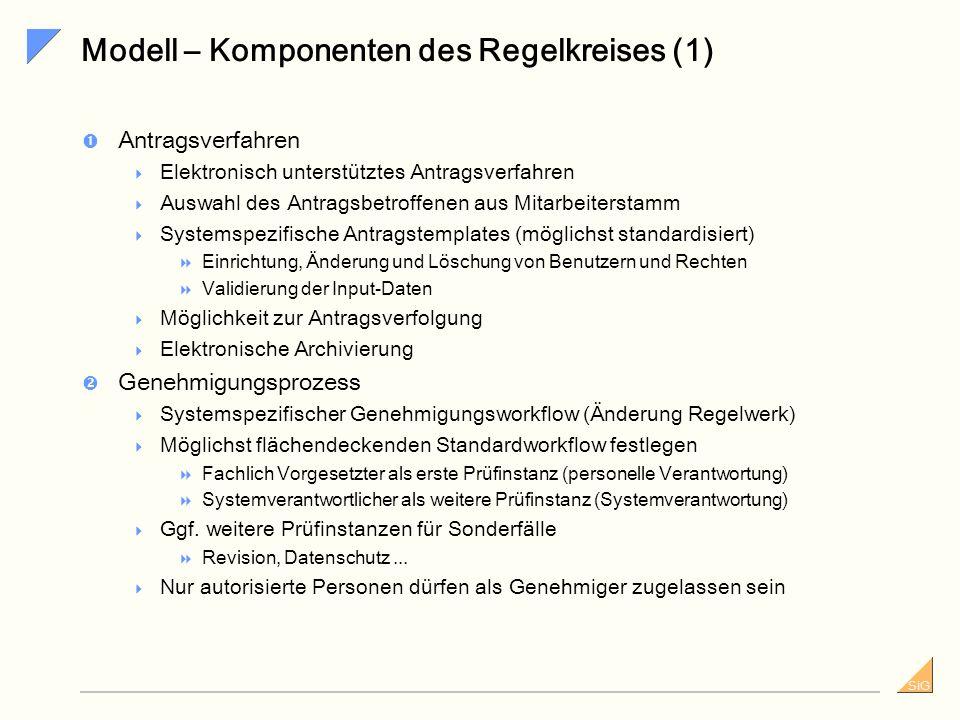 Modell – Komponenten des Regelkreises (1)