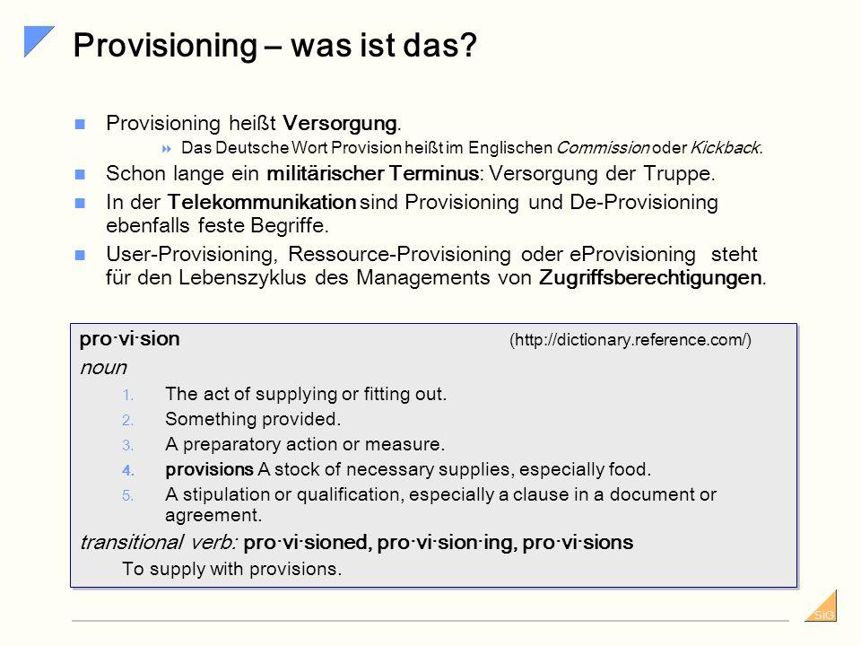 Provisioning – was ist das