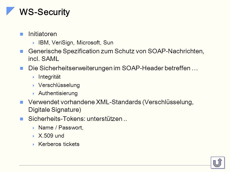 WS-Security Initiatoren