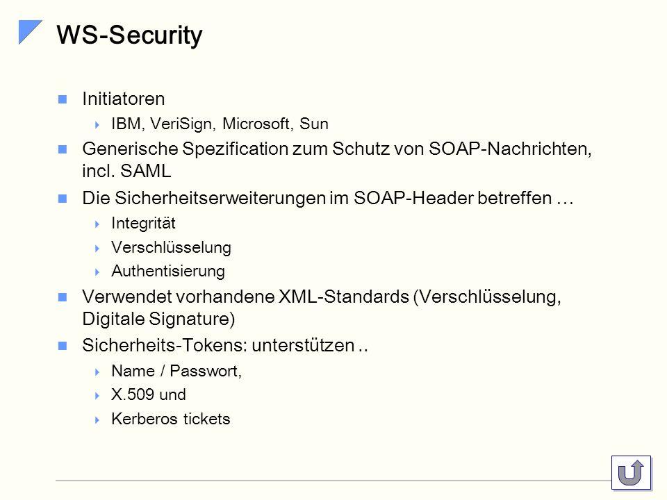 WS-Security Initiatoren