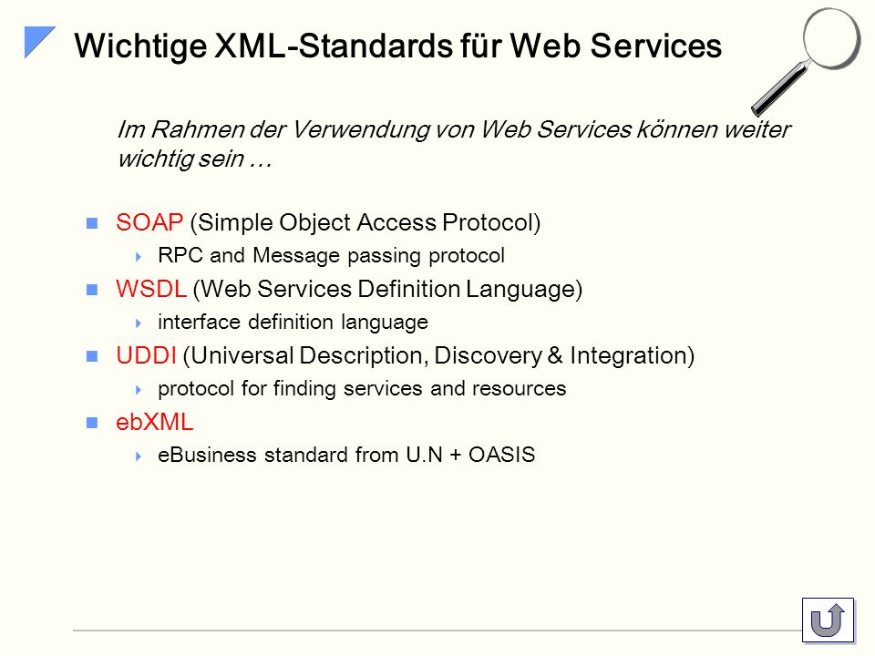 Wichtige XML-Standards für Web Services