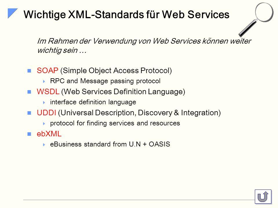Wichtige XML-Standards für Web Services