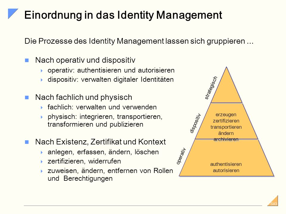 Einordnung in das Identity Management