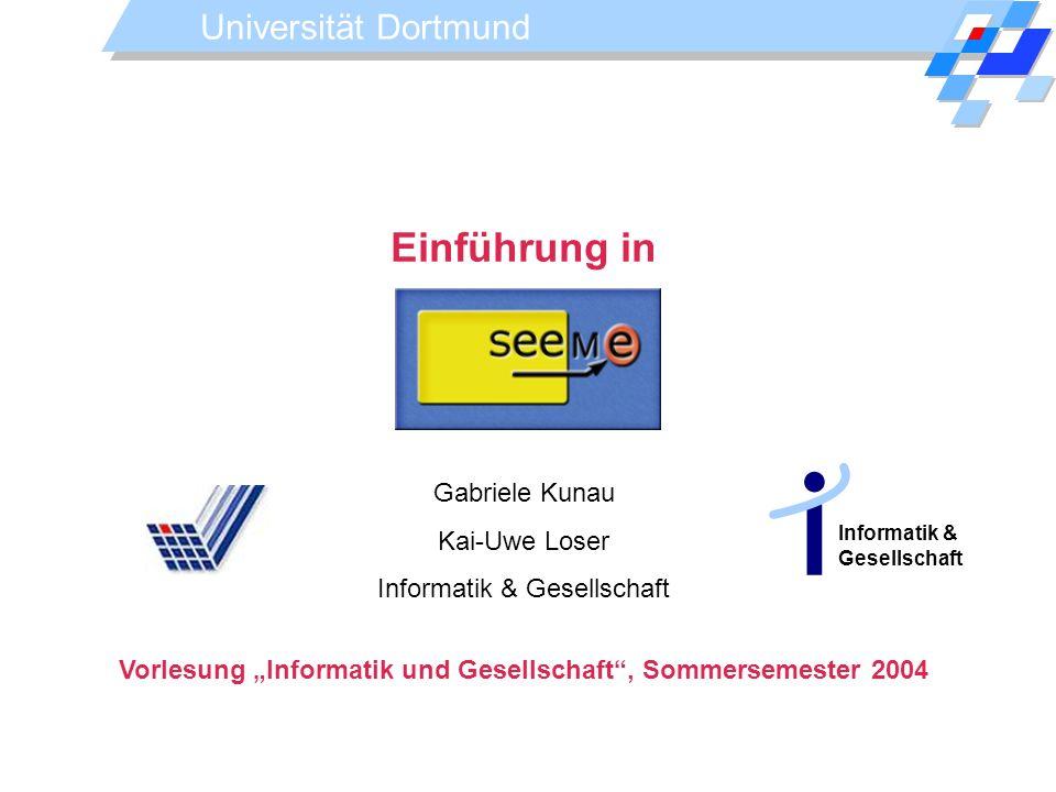 """Vorlesung """"Informatik und Gesellschaft , Sommersemester 2004"""