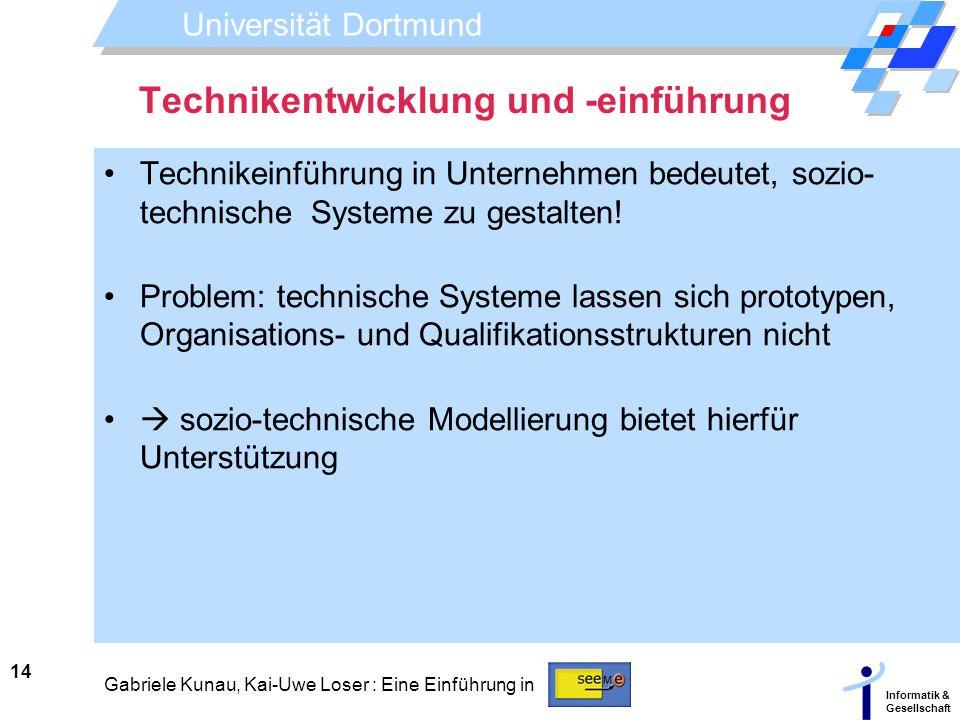 Technikentwicklung und -einführung