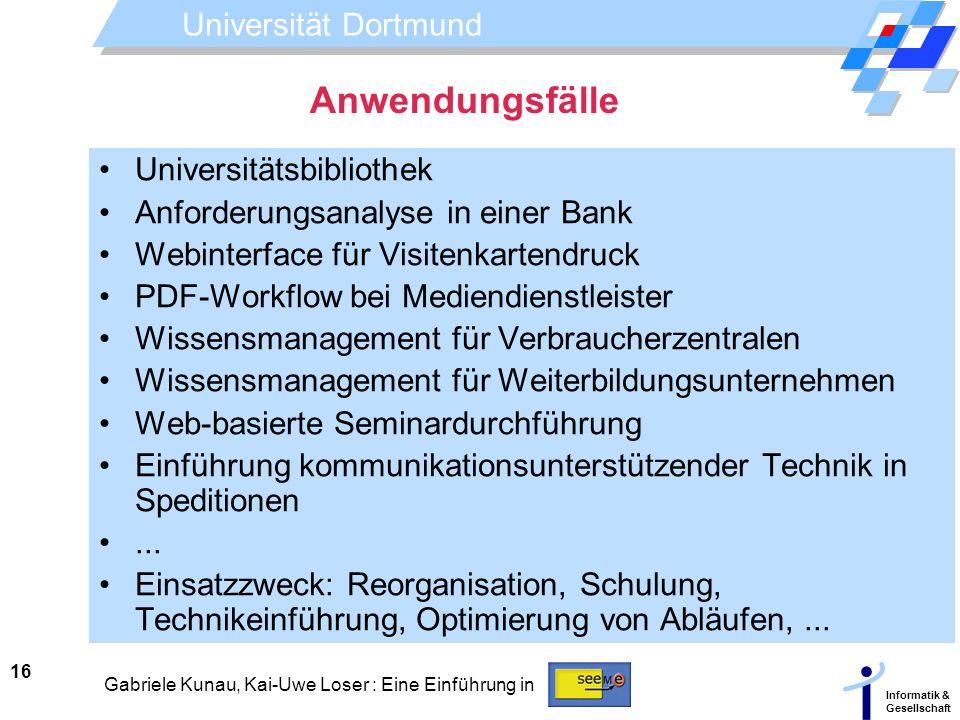 Anwendungsfälle Universitätsbibliothek