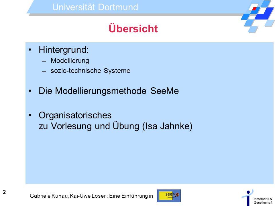 Übersicht Hintergrund: Die Modellierungsmethode SeeMe