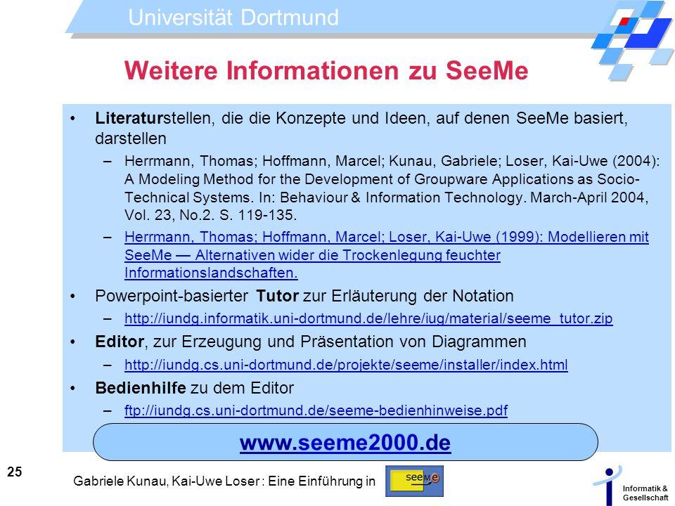 Weitere Informationen zu SeeMe