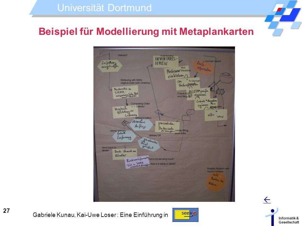 Beispiel für Modellierung mit Metaplankarten