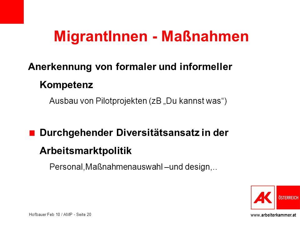 MigrantInnen - Maßnahmen
