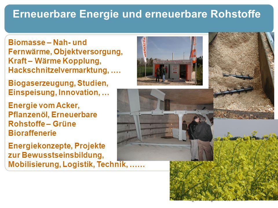Erneuerbare Energie und erneuerbare Rohstoffe