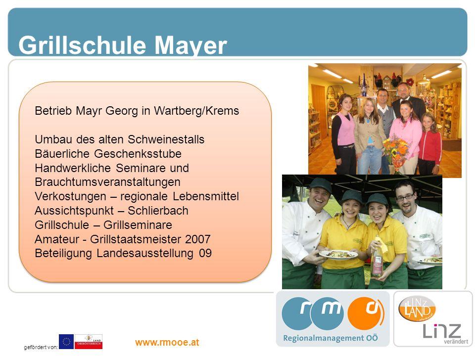 Grillschule Mayer Betrieb Mayr Georg in Wartberg/Krems
