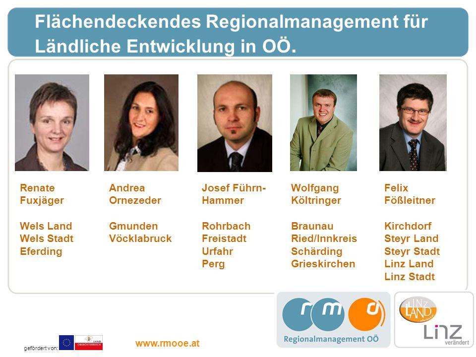 Flächendeckendes Regionalmanagement für Ländliche Entwicklung in OÖ.
