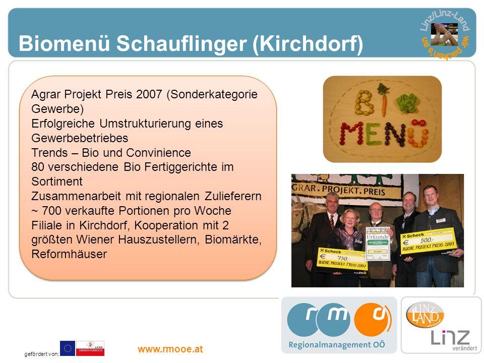 Linz/Linz-Land wir packen s an Biomenü Schauflinger (Kirchdorf)