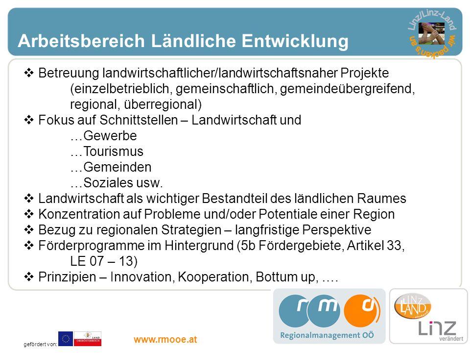 Linz/Linz-Land wir packen s an Arbeitsbereich Ländliche Entwicklung
