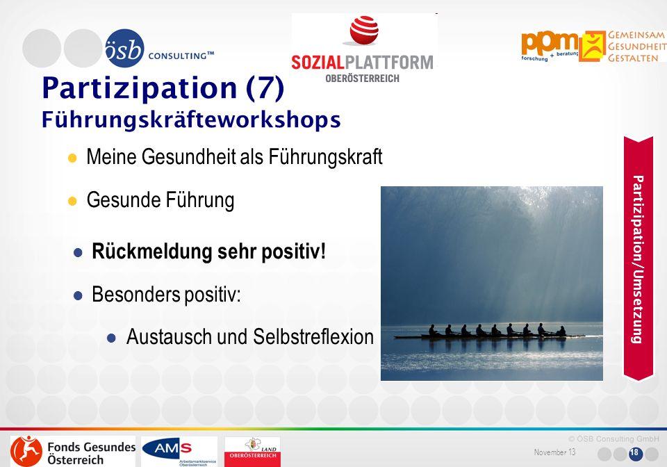 Partizipation (7) Führungskräfteworkshops