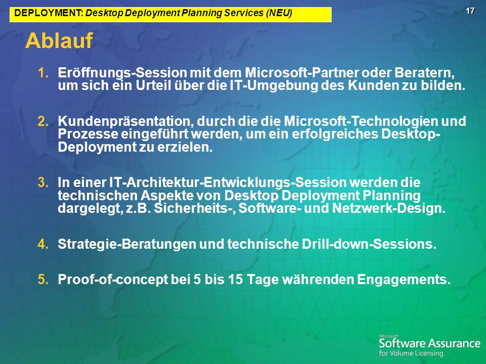 DEPLOYMENT: Desktop Deployment Planning Services (NEU)