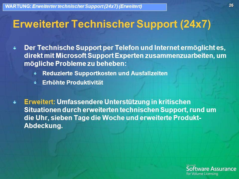 Erweiterter Technischer Support (24x7)