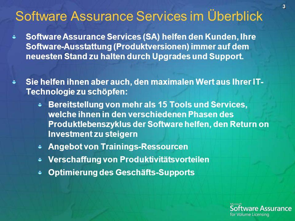 Software Assurance Services im Überblick