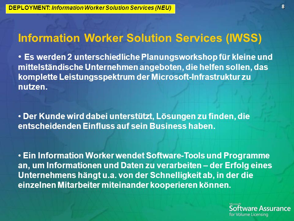 Information Worker Solution Services (IWSS)