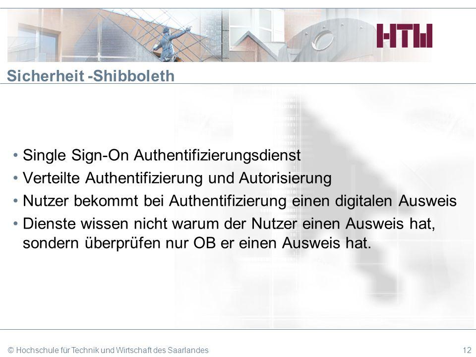 Sicherheit -Shibboleth
