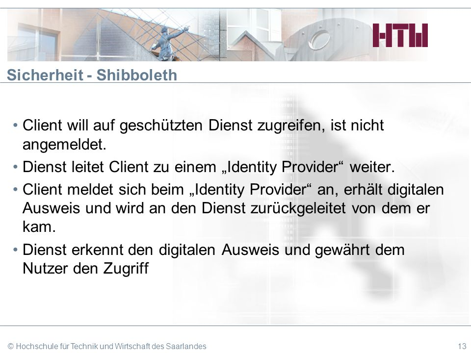 Sicherheit - Shibboleth
