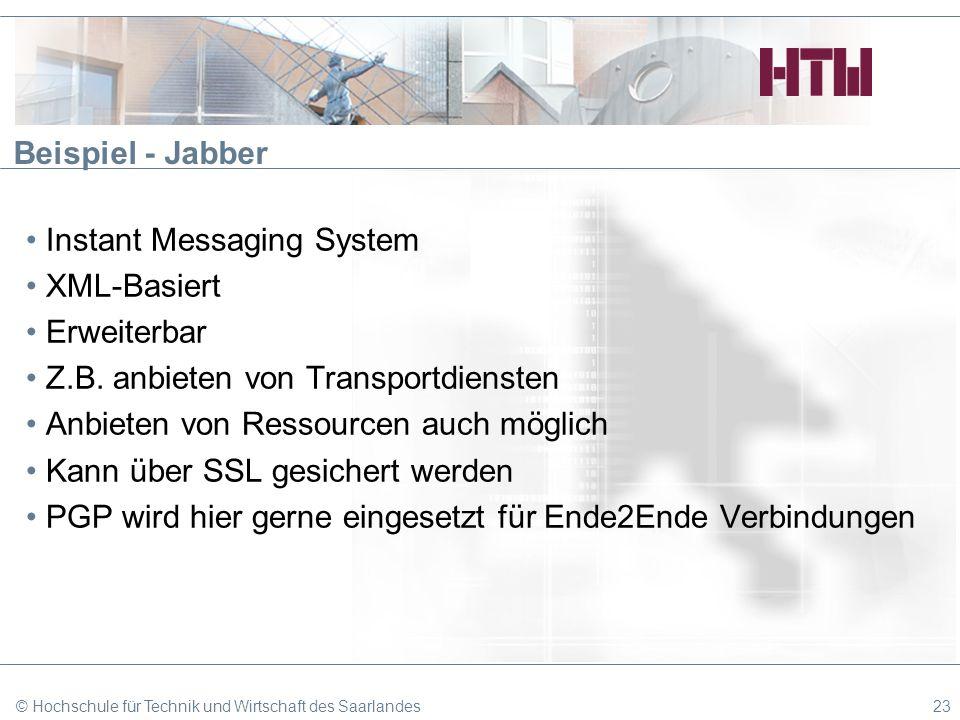 Instant Messaging System XML-Basiert Erweiterbar